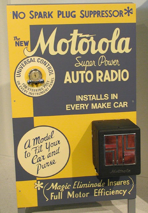 Retail promotional display for the Motorola car radio, 1930s