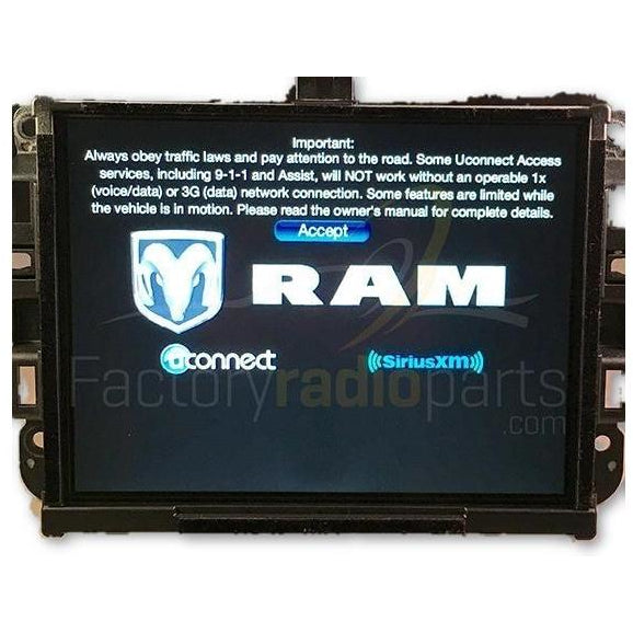 RAM Truck 1500 2500 3500 Uconnect 8 4 Radio and Dual Zone AC Control Dash  Bezel Upgrade