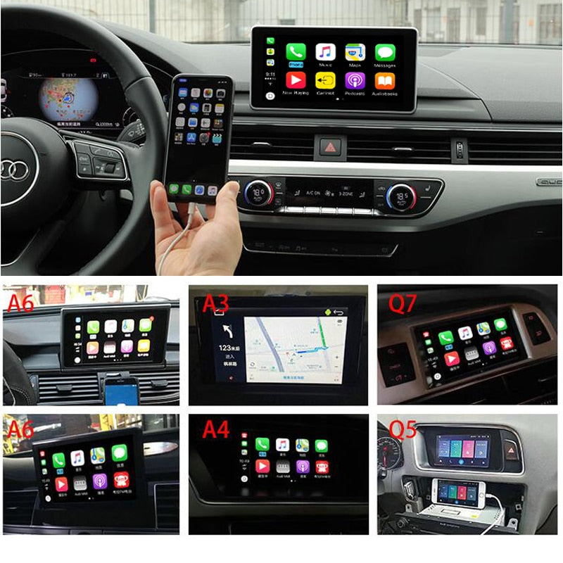 Audi A1 A3 A4 A5 A6 Q3 Q5 Q7 MMI System Apple Car Play Android Auto Upgrade Kit (2018) - Factory Radio Parts