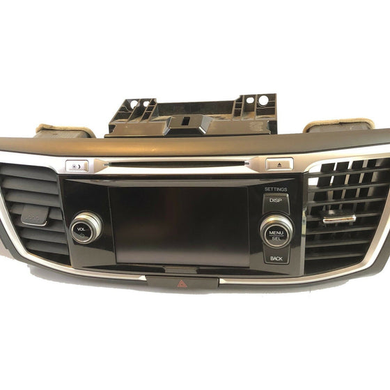 2013-2015 HONDA ACCORD NAVIGATION DISPLAY SCREEN RADIO CD UNIT 39101-T2A-A810-M1 - Factory Radio Parts
