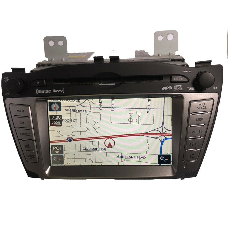 Hyundai Tuscon Blue Link CD XM Navigation Radio 2011-2013 - Factory Radio Parts