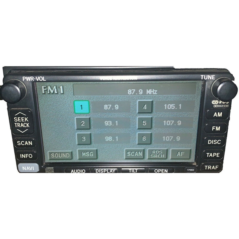 Lexus ES300 Navigation Radio 86120-33550 - Factory Radio Parts