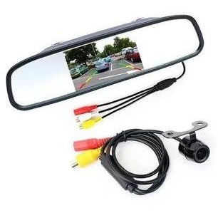 "Car Rear Camera Kit with 4.3"" Color LCD Monitor - Factory Radio Parts"
