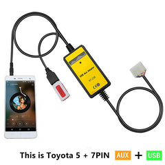 Toyota Lexus 13 Pin Aux and USB Input Adapter - Factory Radio Parts