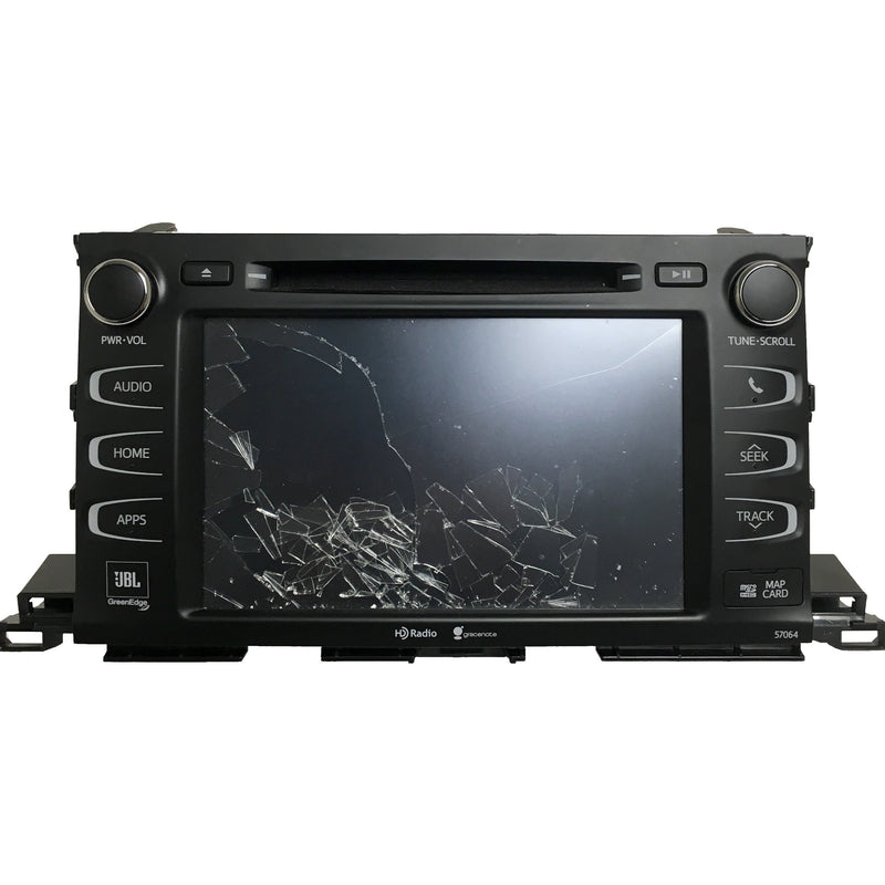 Toyota Highlander Panasonic Entune 2.0 with Navigation 8 inch Replacement Touch Screen (2014-2019) - Factory Radio Parts