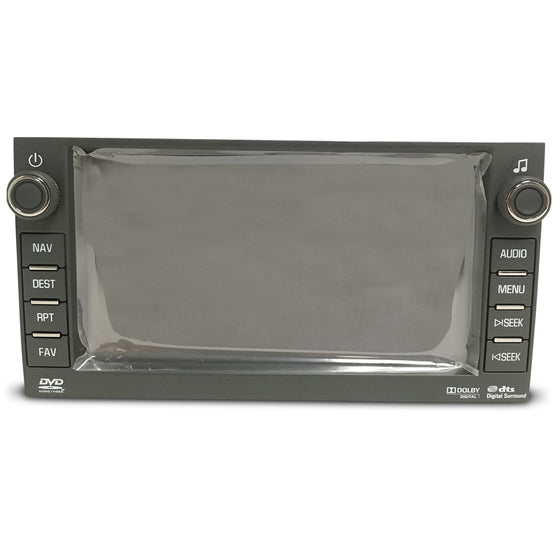 "Chevrolet Buick GMC Hummer Denso Navigation Radio 6.5"" Replacement LCD and Touchscreen Assembly (2007-2012) - Factory Radio Parts"