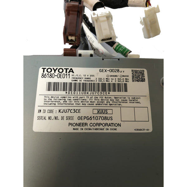 Toyota Satellite Receiver XM Radio Module 86180-0E011 (2014-2019) - Factory Radio Parts