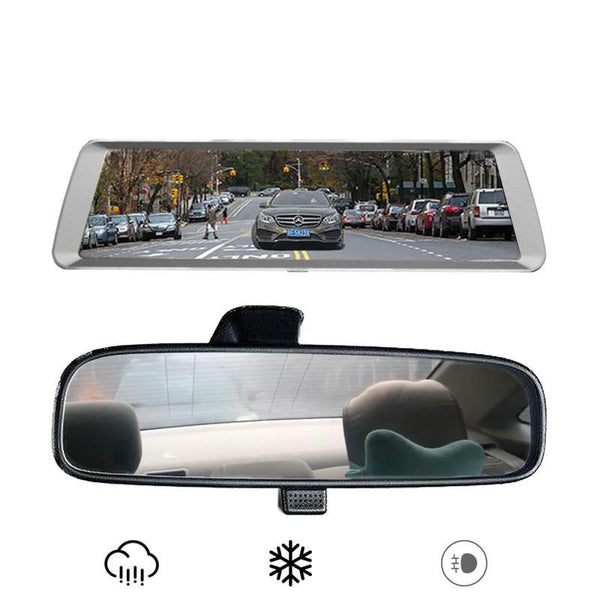 Dual Rear View Mirror Dash Camera Kit - Factory Radio Parts
