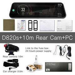 D820 Dual Rear View Mirror Dash Camera Kit - Factory Radio Parts