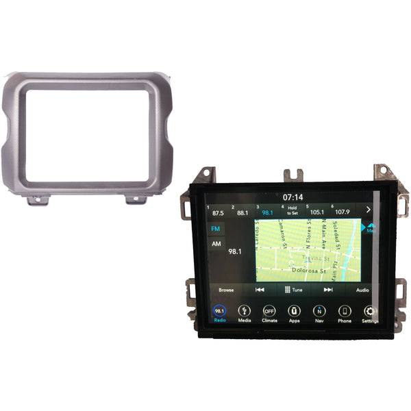 Jeep Wrangler JL Uconnect 8.4 inch Dash Bezel Trim 6AB55TX7AB - Factory Radio Parts