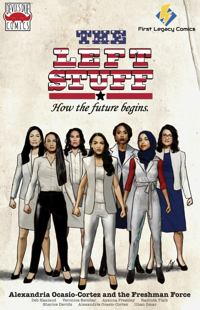 Alexandria Ocasio-Cortez and the Freshman Force [STRIPE VARIANT] First Legacy Comics Retailer Variant