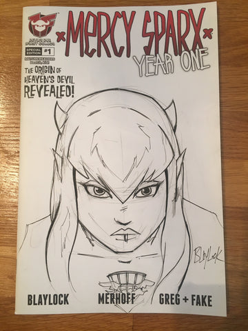 Mercy Sparx Year One #1 Sketch Cover by Josh Blaylock