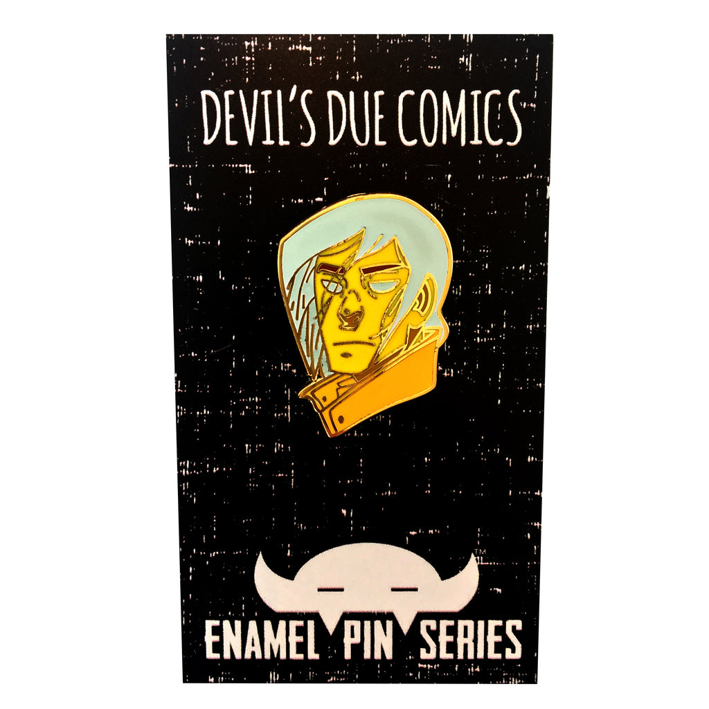Glow-In-The-Dark Corrick Enamel Pin