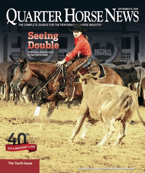 September 15th Issue of Quarter Horse News Magazine