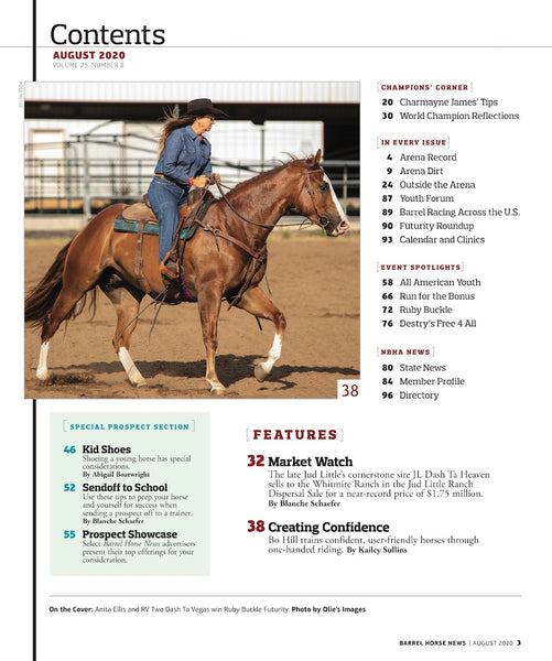 August 2020 Barrel Horse News Magazine