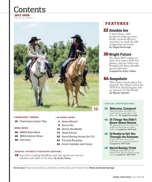 July 2020 Barrel Horse News Magazine