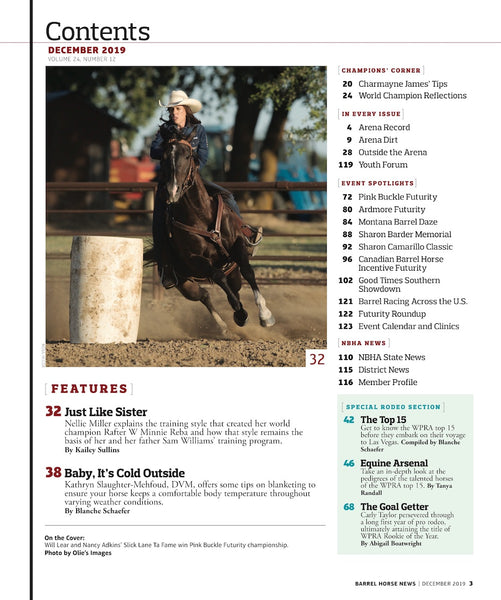 December 2019 Barrel Horse News Magazine