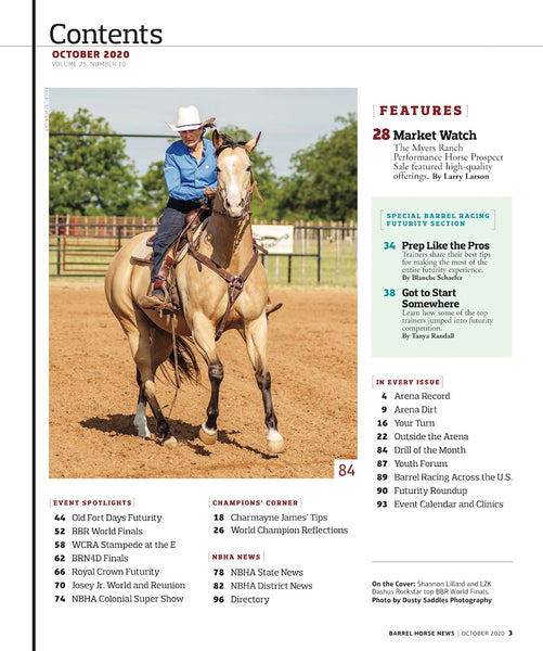 October 2020 Barrel Horse News Magazine