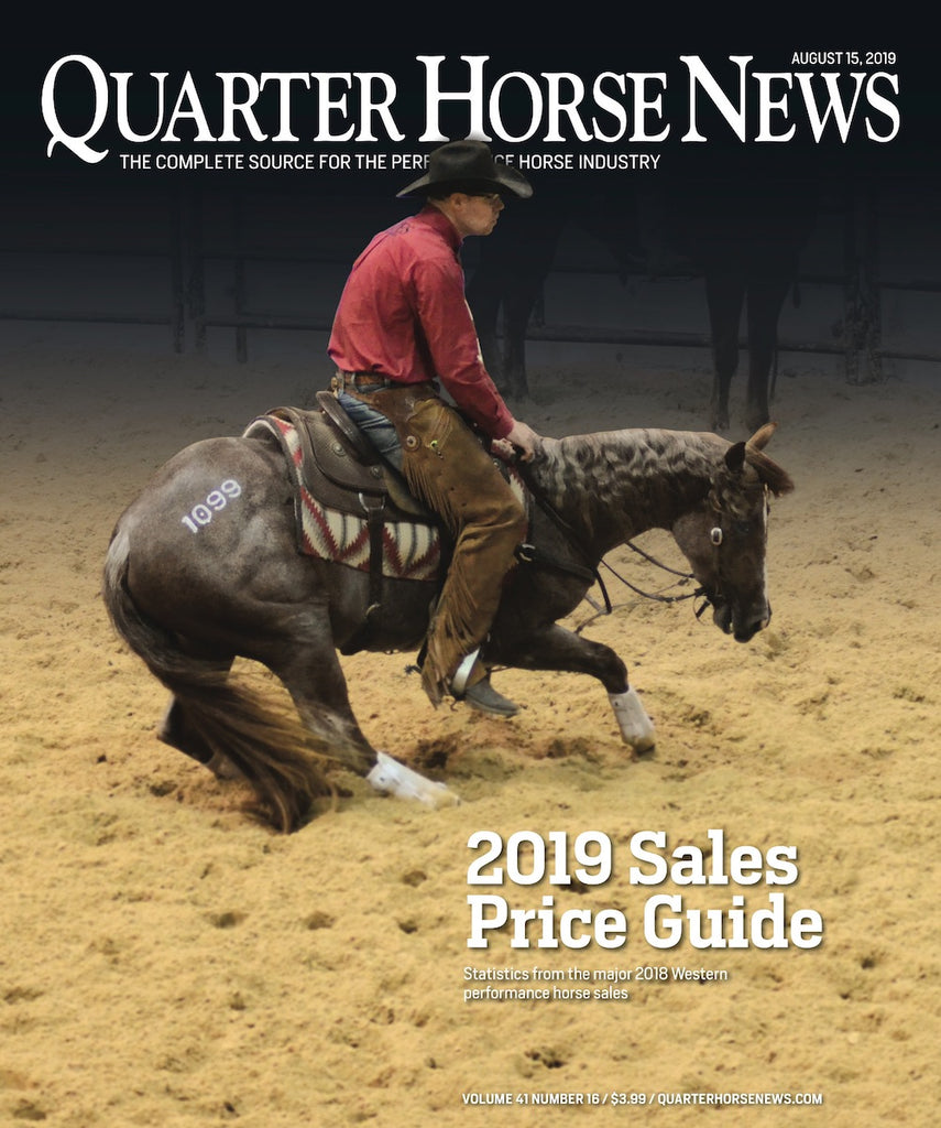 August 15, 2019, Issue of Quarter Horse News Magazine