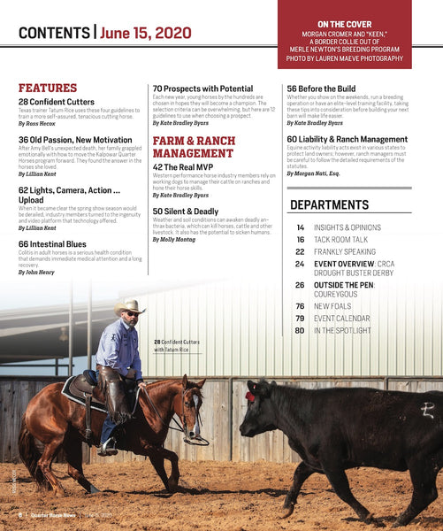 June 15, 2020, Issue of Quarter Horse News Magazine