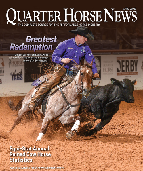 April 1, 2020, Issue of Quarter Horse News Magazine