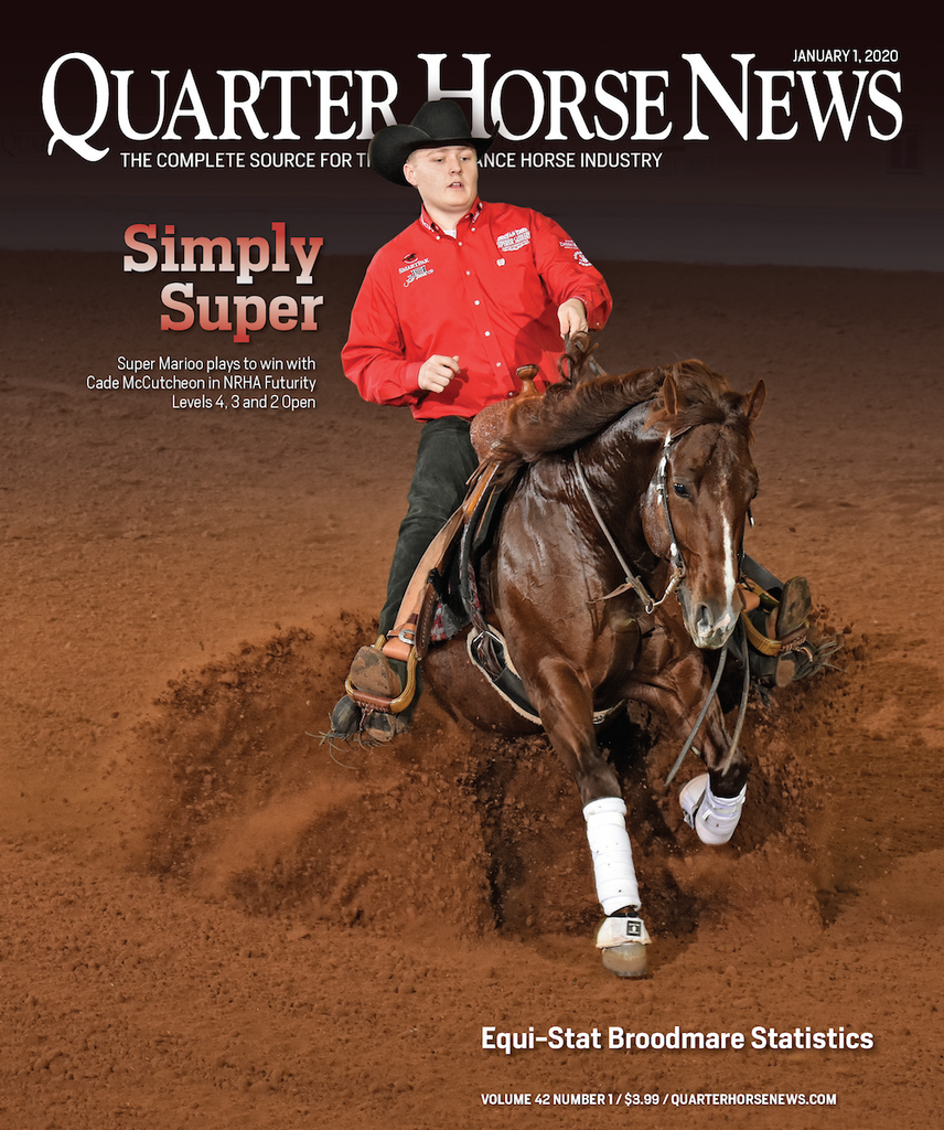 January 1, 2020, Issue of Quarter Horse News Magazine