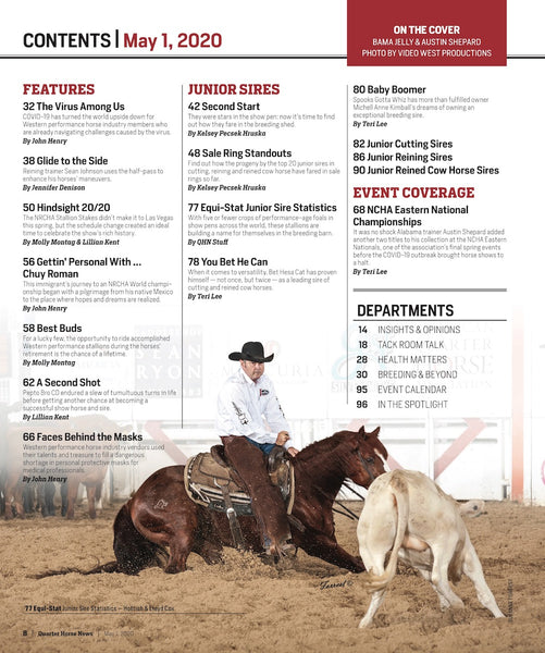 May 1, 2020, Issue of Quarter Horse News Magazine
