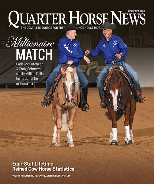 October 1, 2019, Issue of Quarter Horse News Magazine
