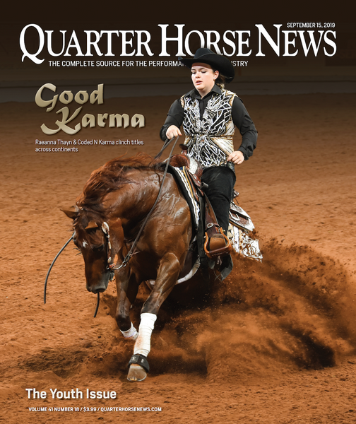 September 15, 2019, Issue of Quarter Horse News Magazine