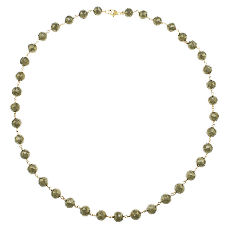 14KY PYRITE NECKLACE 17""