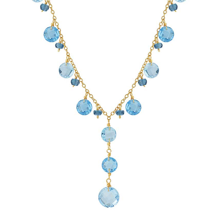 14KY SHADED BLUE TOPAZ Y NECKLACE 17
