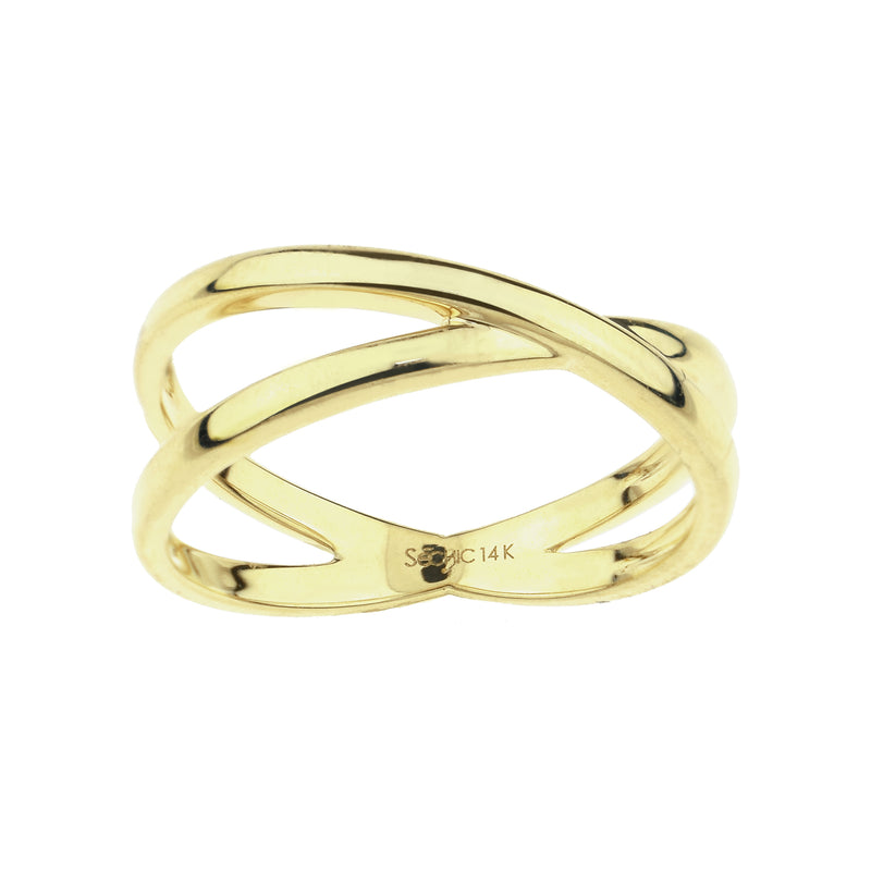 14KY TWO INTERTWINED BAND RING
