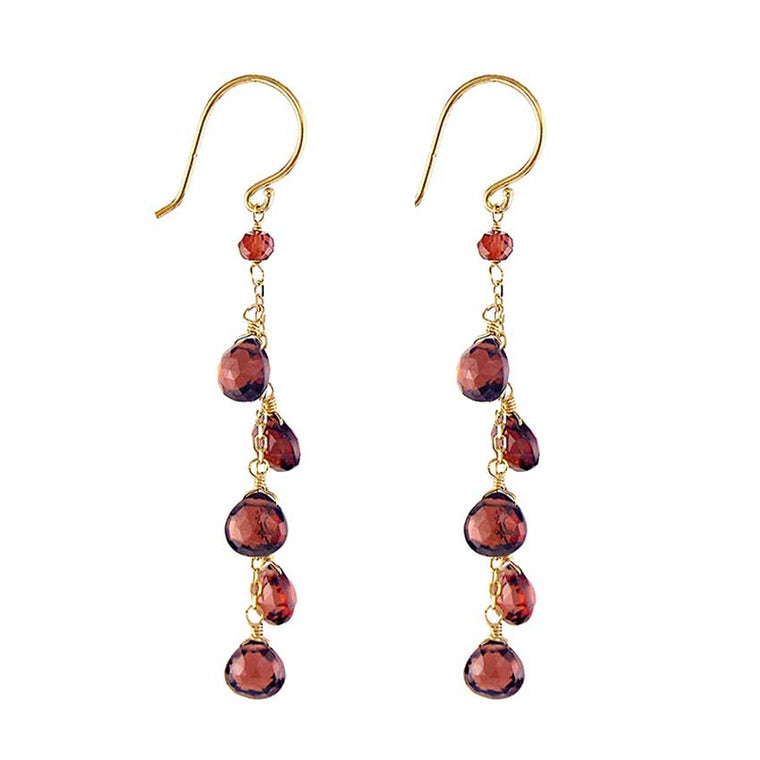 14KY GARNET EARRINGS