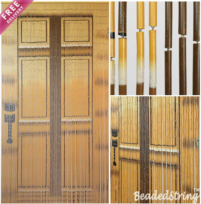 Beaded Curtain Bamboo Door1
