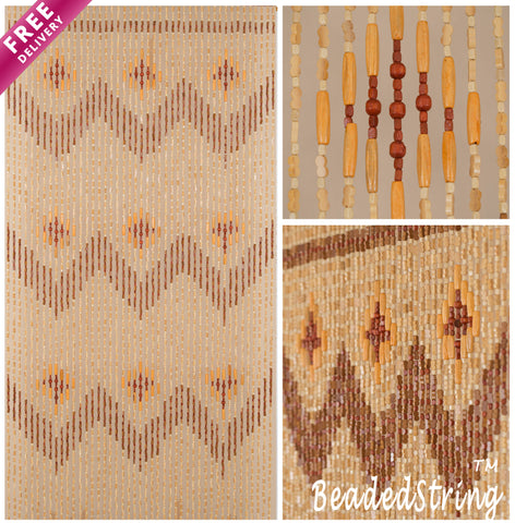 beaded curtain-wood-Bamboo-Garden-1