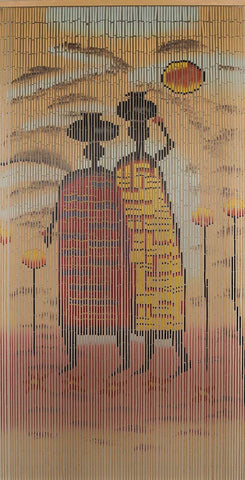 "Bamboo Beaded Curtain 35.5"" wide X 78"" high-90 strands- Village"