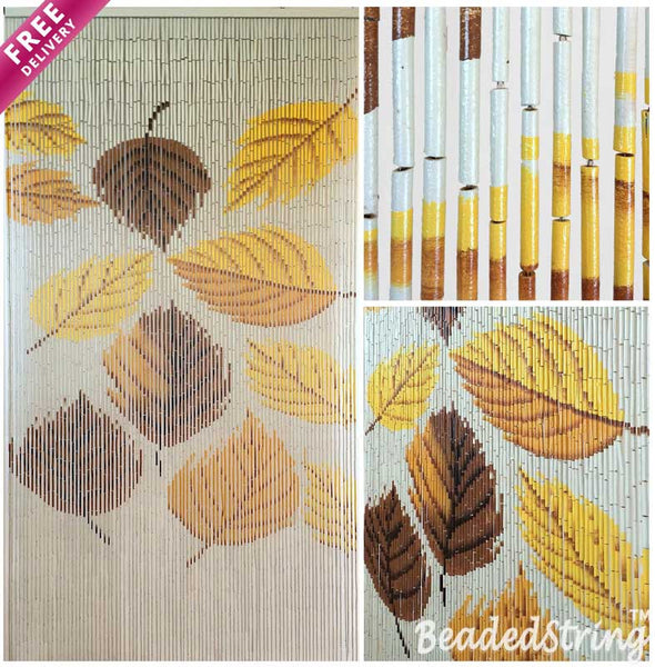 beaded curtain-bamboo-Autumn1