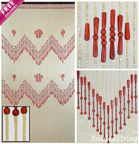 beaded curtain-wood-Venus-1