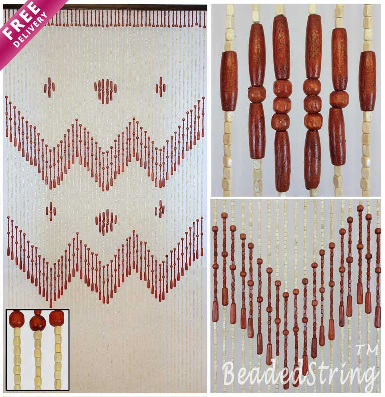 beaded curtain-wood -VenusBr-1