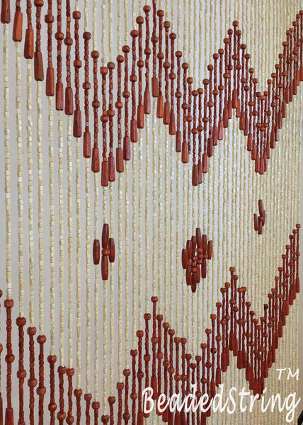 beaded curtain-wood -VenusBr-4