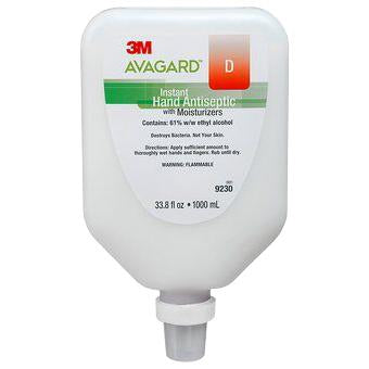 3M Avagard D Instant Hand Antiseptic - 1000 mL Wall Mount Bottle