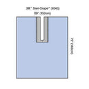 3M Steri-Drape Orthopedic Adhesive Split Sheet -
