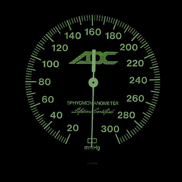 ADC 800GP Gold Plated Aneroid Gauge for Diagnostix 700/778 Pocket Sphygmomanometers - Luminescent Dial