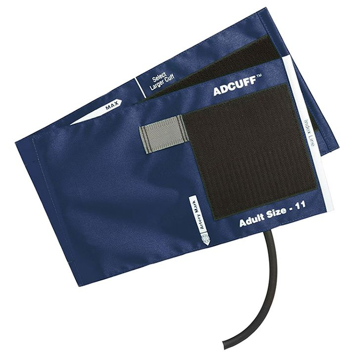 ADC Adcuff Cuff and Bladder with One Tube and Female Luer Connector - Adult - Navy