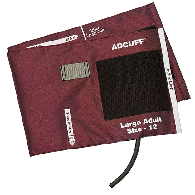 ADC Adcuff Cuff and Bladder with One Tube and Female Luer Connector - Large Adult - Burgundy