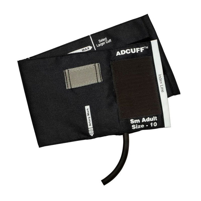 ADC Adcuff Cuff and Bladder with One Tube and Female Luer Connector - Small Adult - Black