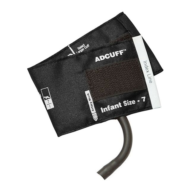 ADC Adcuff Cuff and Bladder with One Tube - Infant - Black