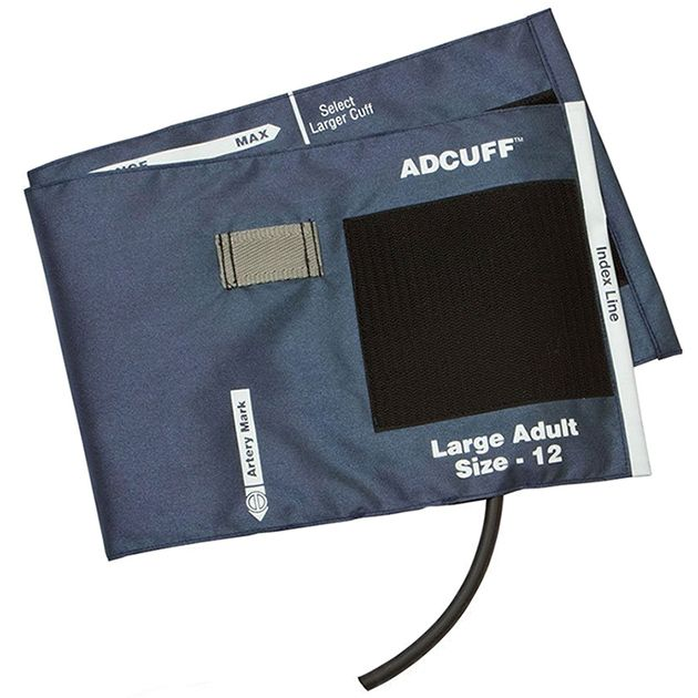 ADC Adcuff Cuff and Bladder with One Tube - Large Adult - Navy