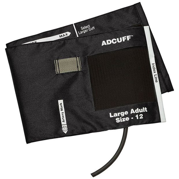 ADC Adcuff Cuff and Bladder with One Tube - Large Adult - Black