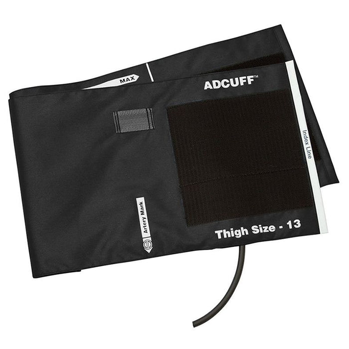 ADC Adcuff Cuff and Bladder with One Tube - Thigh - Black